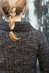 Cables, top-down, seamless, wide collar & edging, all ending in a fabulous worsted weight cardigan.